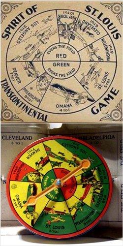 Spirit of St. Louis Transcontinental Spinner Game, 1925