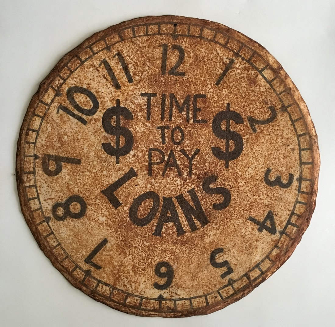 Early 20th C Pawn Shop Trade Sign
