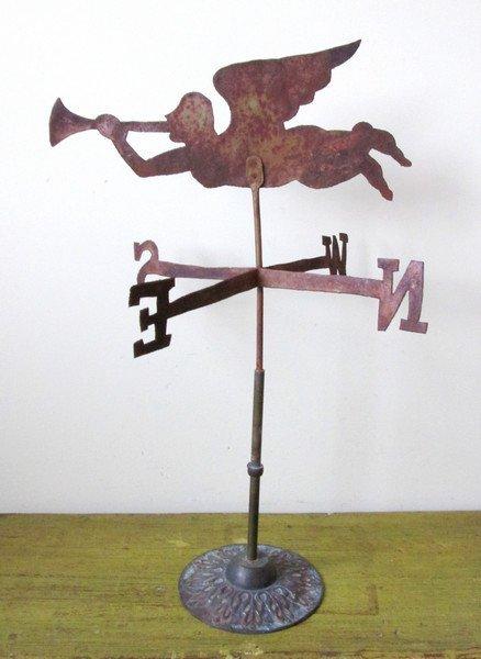 Gabriel Blowing Horn Weathervane, 1900
