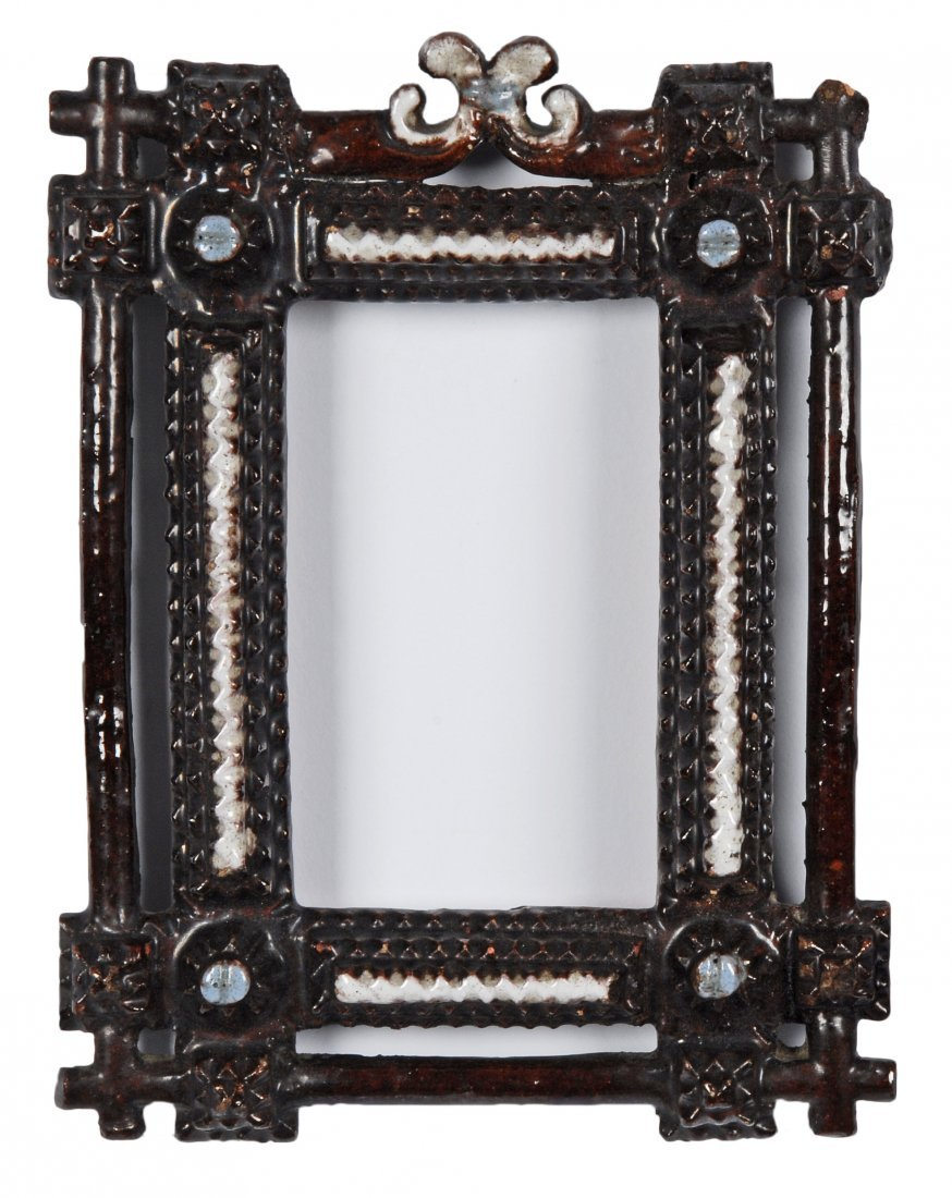 Pair of Redware Tramp Art Frames, c 1890 - 2