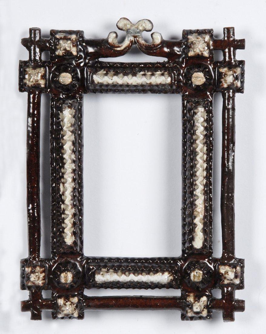 Pair of Redware Tramp Art Frames, c 1890 - 3
