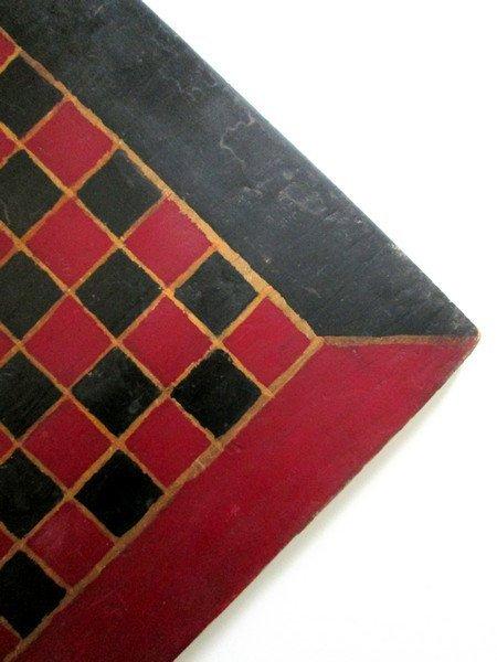 19th C Handmade Painted Checkerboard - 2