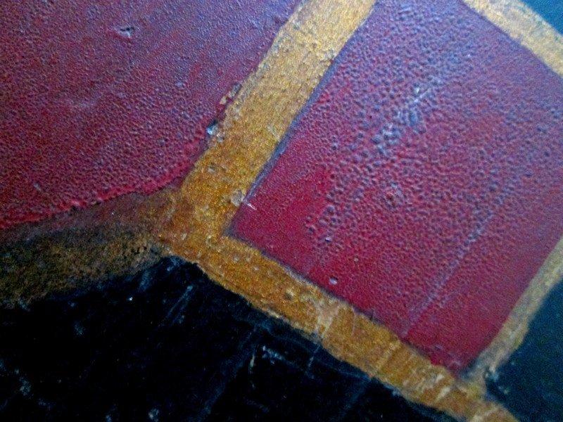 19th C Handmade Painted Checkerboard - 3