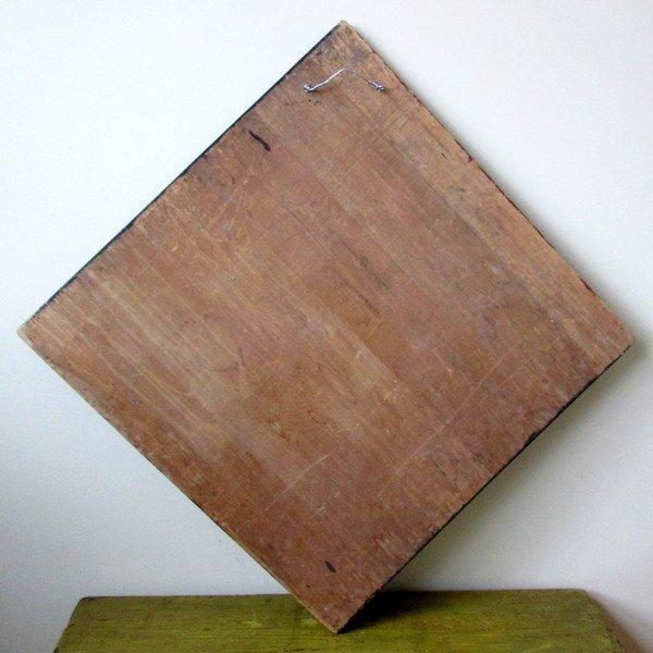 19th C Handmade Painted Checkerboard - 6