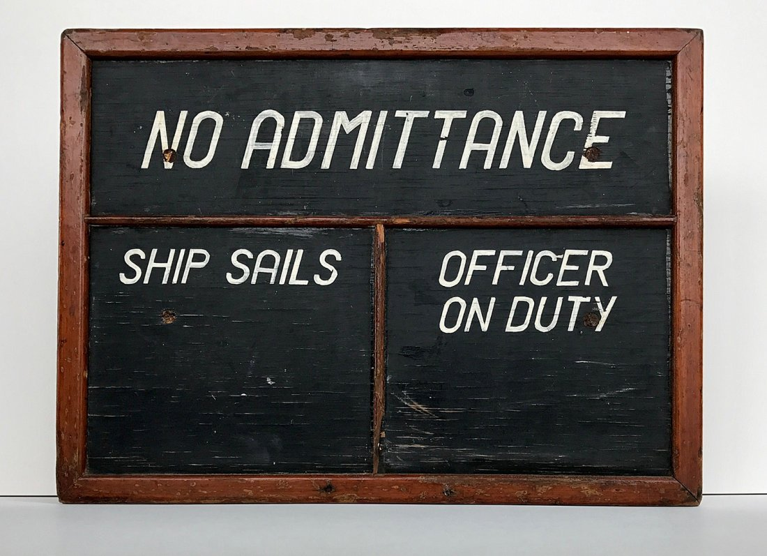 Maine Ship Schedule Sign, c 1900