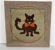 Felix The Cat Hooked Rug, c 1940
