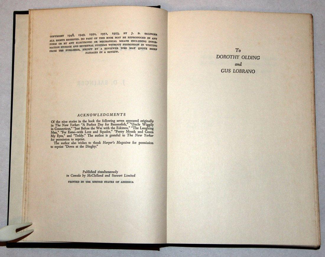 J. D. Salinger: Nine Stories, 1st Edition, 1953 - 9