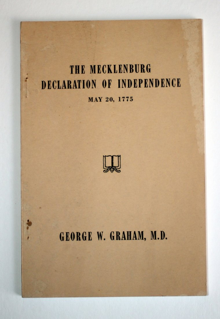 """May, 1775"" On Alleged Mecklenburg Declaration, 1887"