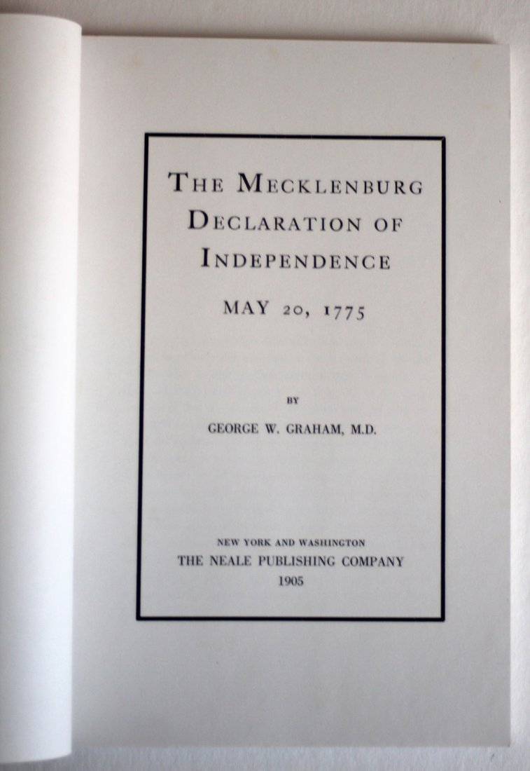 """May, 1775"" On Alleged Mecklenburg Declaration, 1887 - 2"