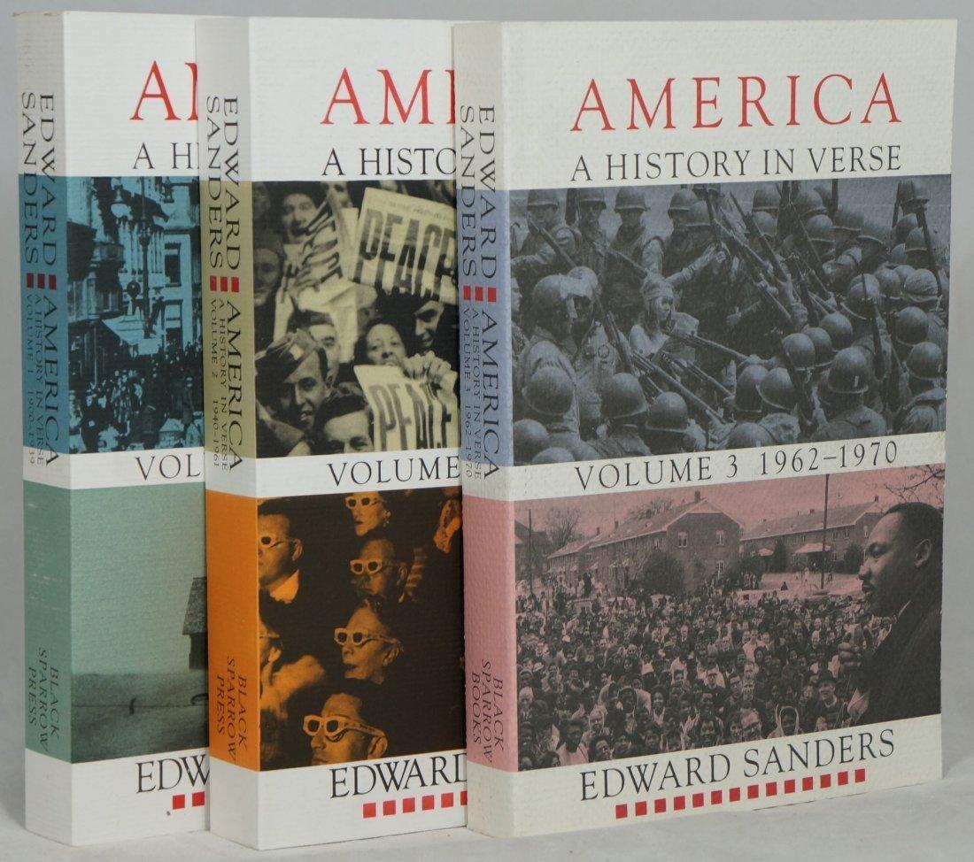 Edward Sanders: America - A History in Verse, 3 Vols