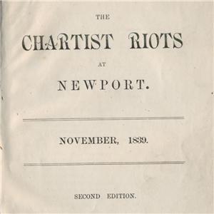 The Chartist Riots at Newport Antique Book, 1839