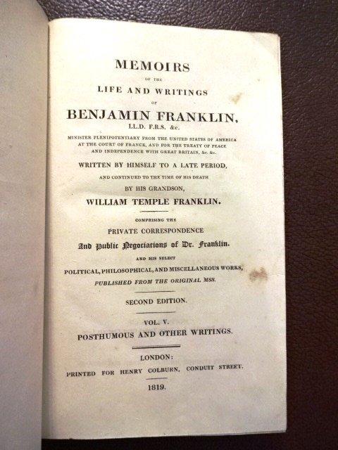 The Life & Writings of Benjamin Franklin, Vol 5, 1819