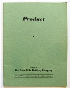 Vintage Coca Cola Product History Book, 1940