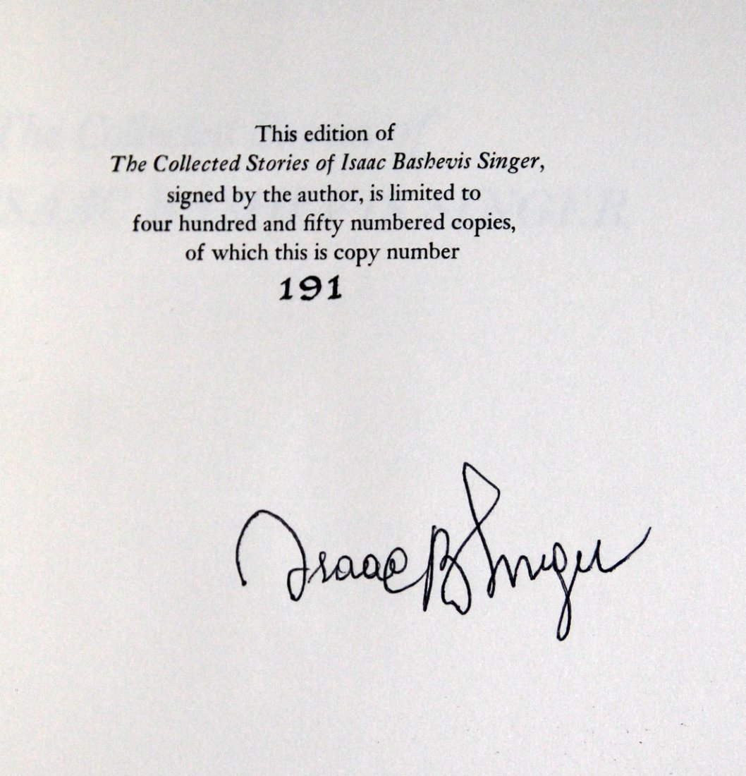 Isaac Bashevis Singer Collected Stories, 1st Ed, Signed - 7