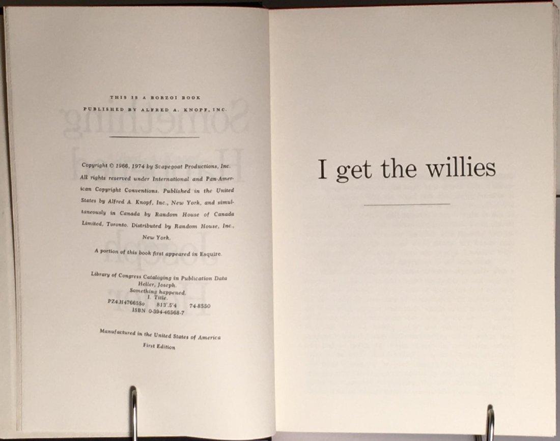 Joseph Heller: Something Happened, 1st Ed, Signed - 5