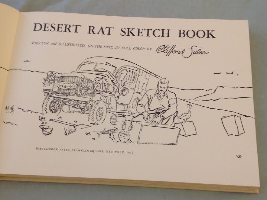 Clifford Saber: Desert Rat Sketch Book, 1st Ed, 1959 - 5