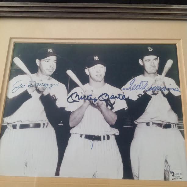 DiMaggio, Mantle & Williams Signed Picture, Certified - 2