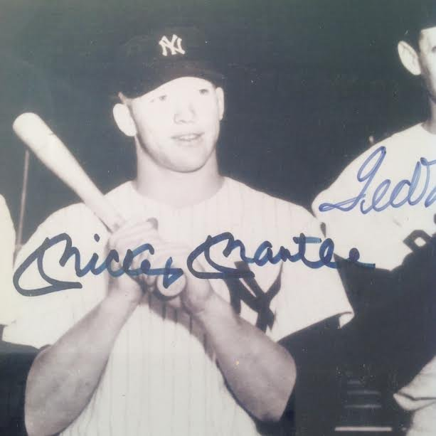 DiMaggio, Mantle & Williams Signed Picture, Certified - 3