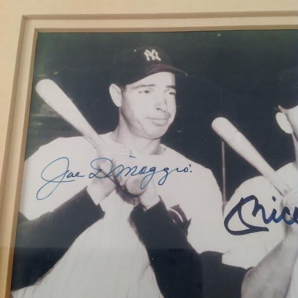 DiMaggio, Mantle & Williams Signed Picture, Certified - 4