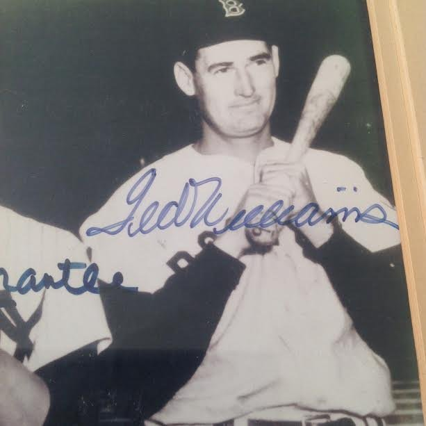 DiMaggio, Mantle & Williams Signed Picture, Certified - 5