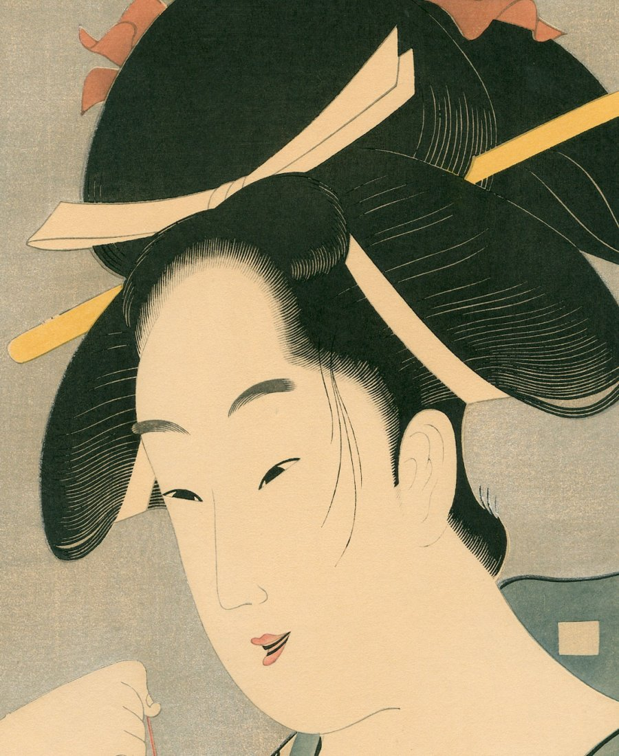 Chokosai Eisho: A Courtesan with a Goldfish - 2