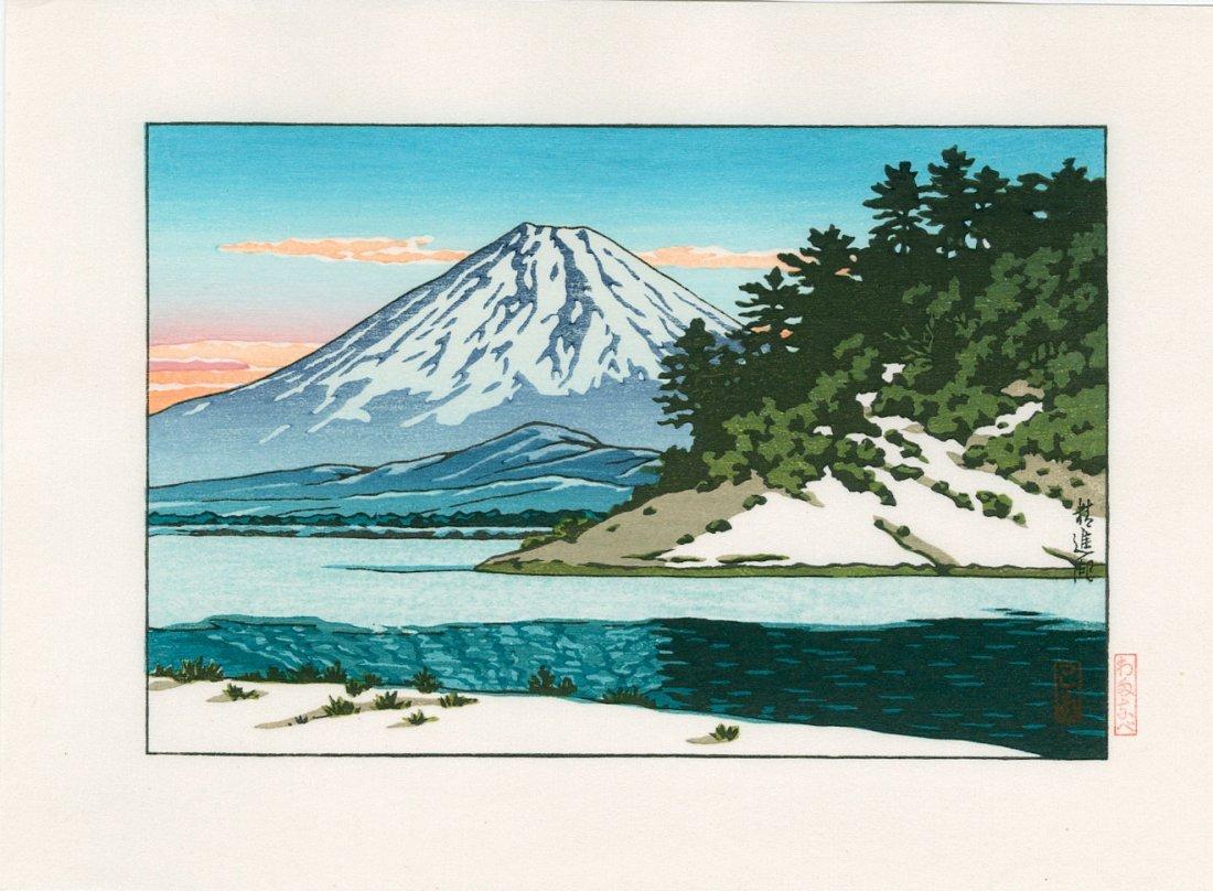 Hasui Kawase: Mount Fuji and Lake Shoji