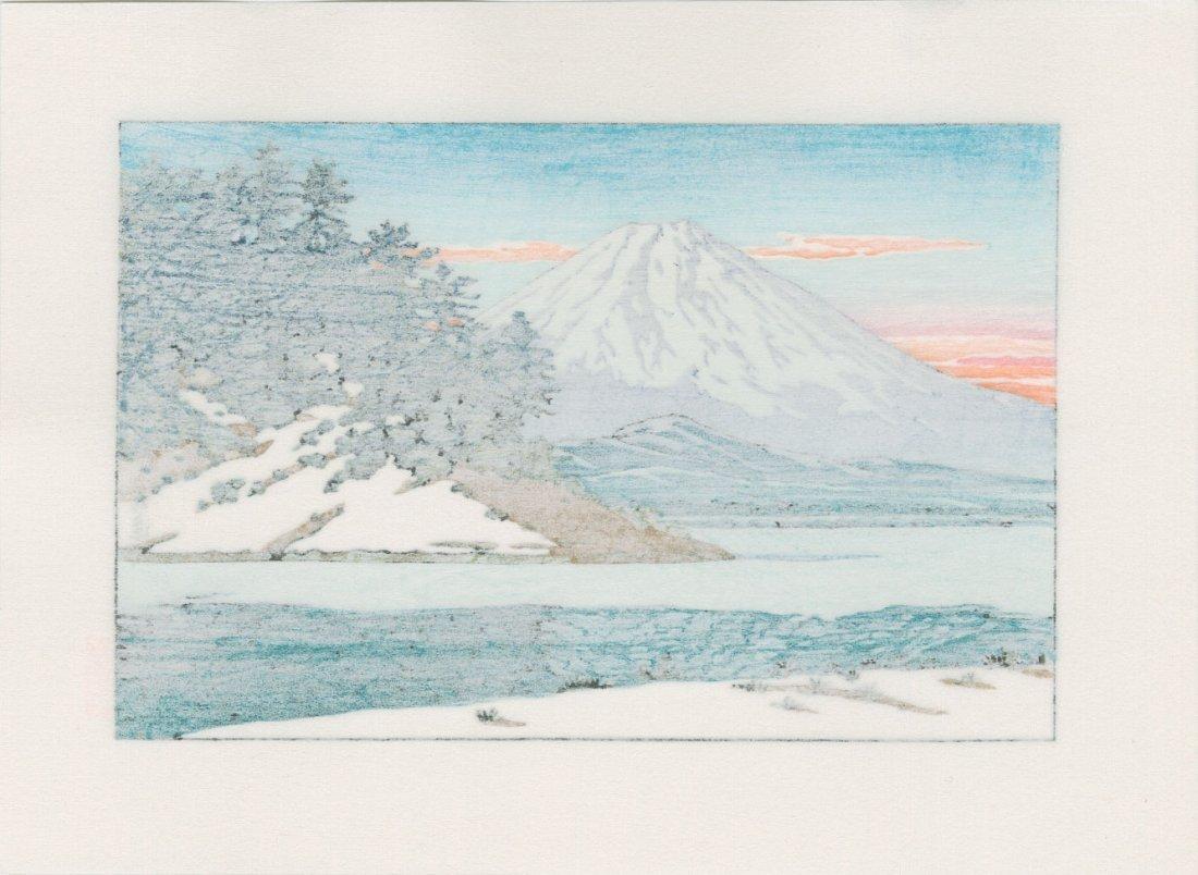 Hasui Kawase: Mount Fuji and Lake Shoji - 2