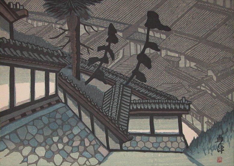 Jun'ichiro Sekino: Okitsu on the Tokaido, 1974