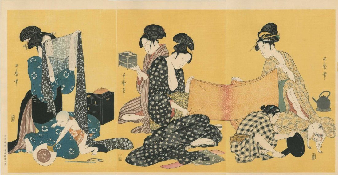 Kitagawa Utamaro: Women Sewing