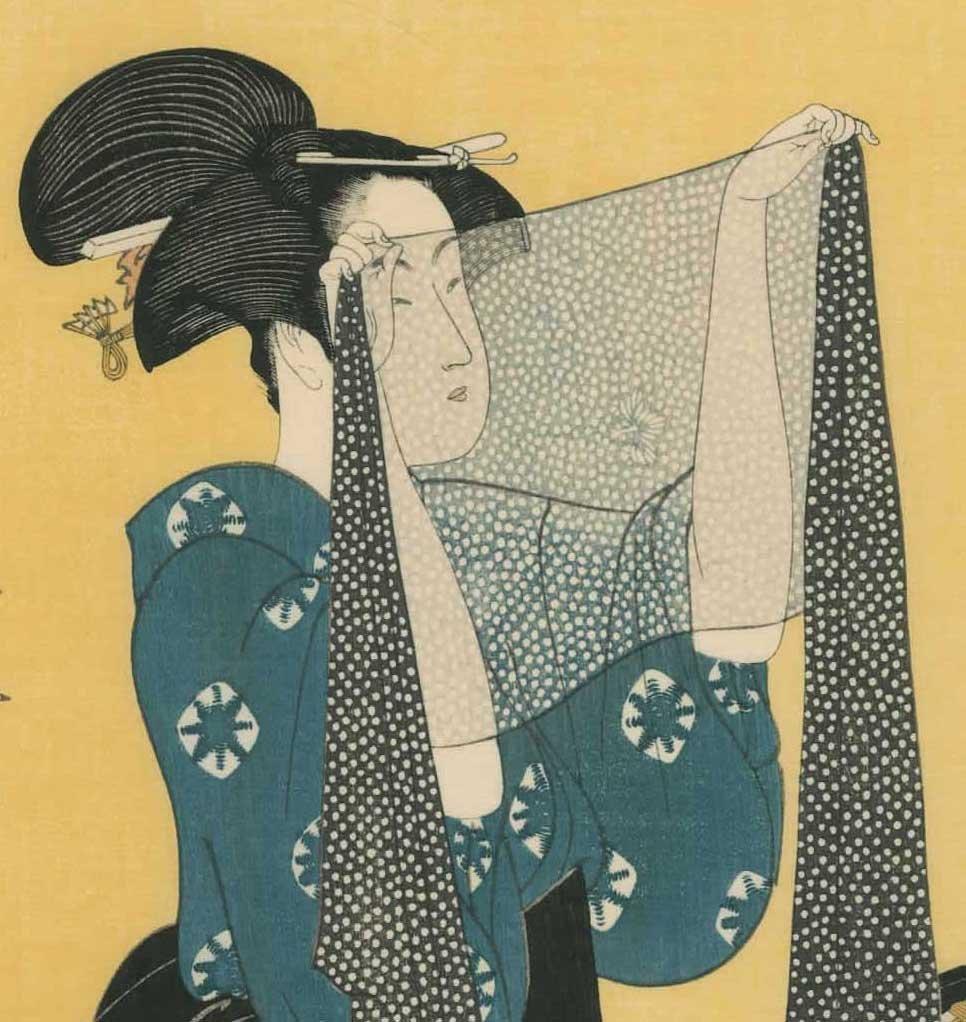 Kitagawa Utamaro: Women Sewing - 5