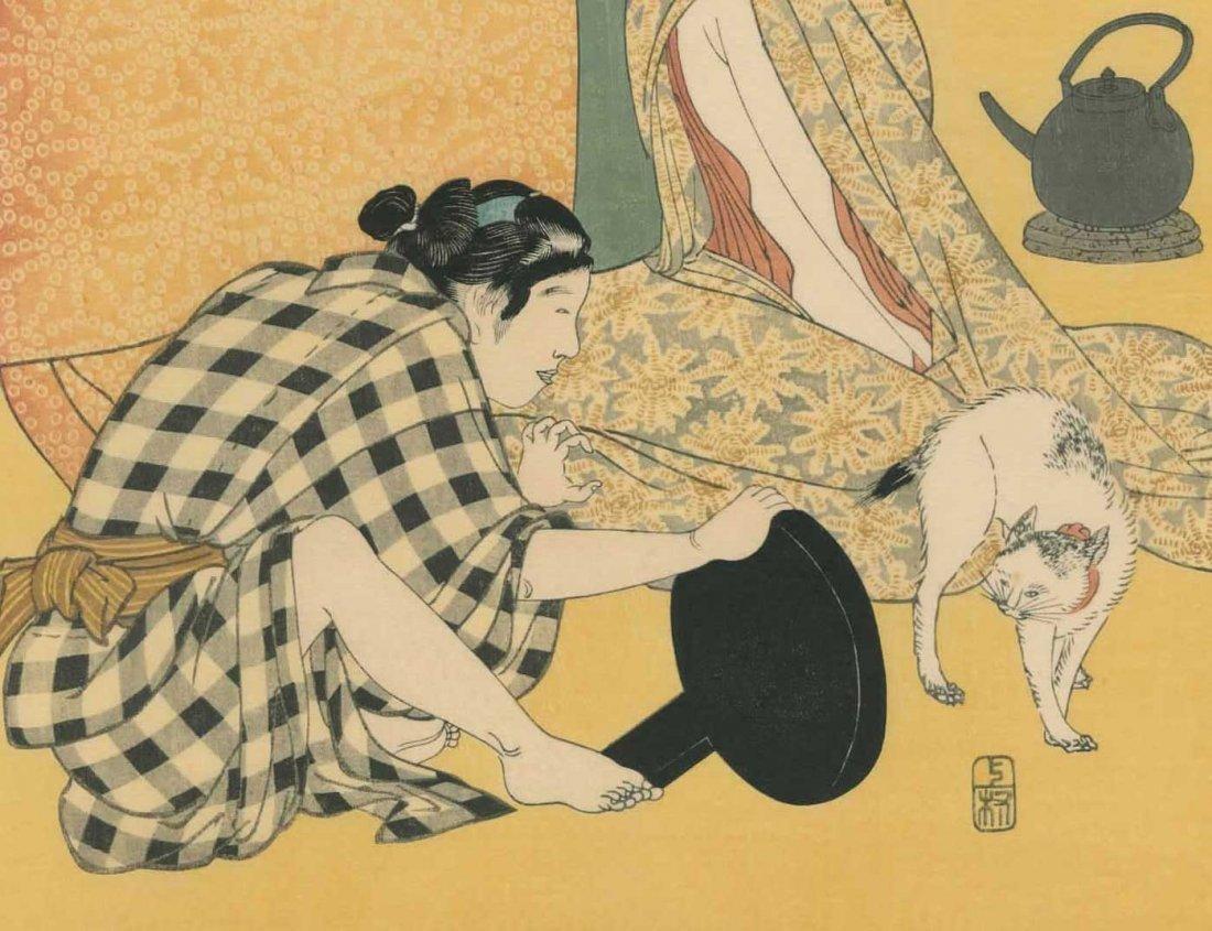Kitagawa Utamaro: Women Sewing - 7