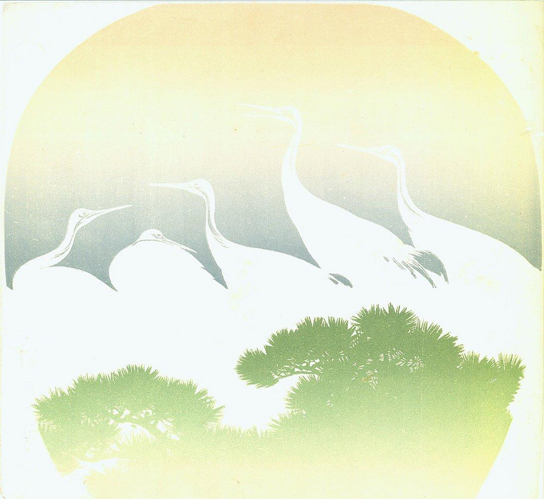 Attributed to Kosatsu: Egrets, 1910's