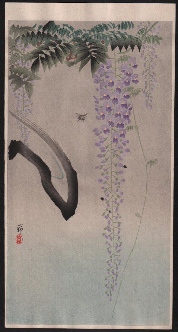 Ohara Koson: Wisteria & Bee, 1910's