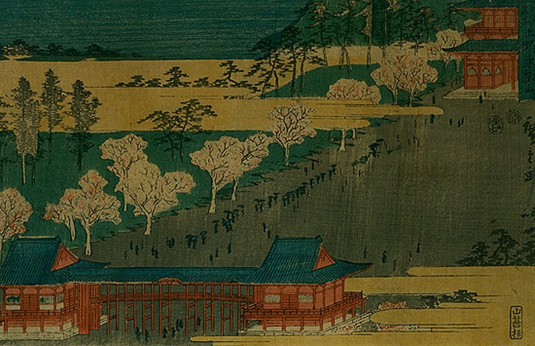 Utagawa Hiroshige: Kinryuzan Temple, 1853