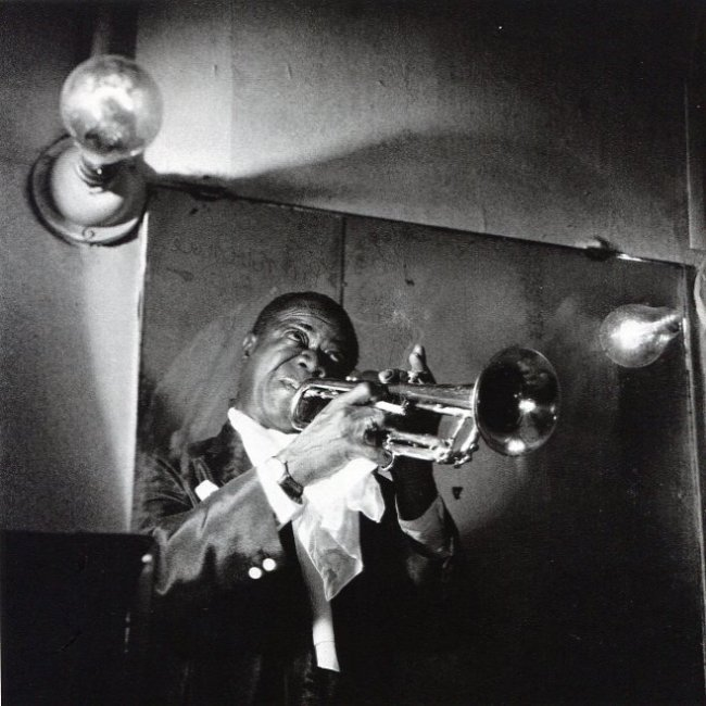 JeanLoup Sieff: Louis Armstrong, Paris