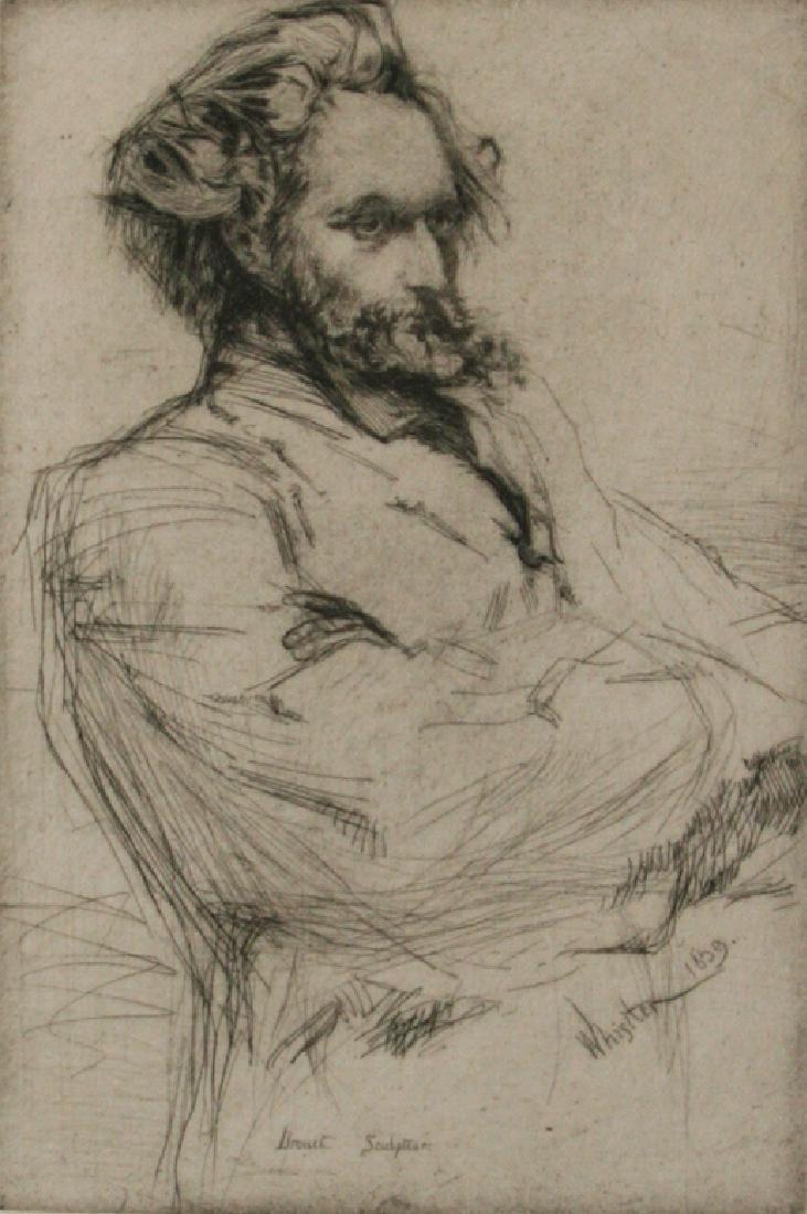 J.A.M. Whistler: Drouet, Sculpteur, 1859 - Signed