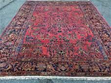 Antique Persian Iran Sarouk Mohajeran Rug 9x11
