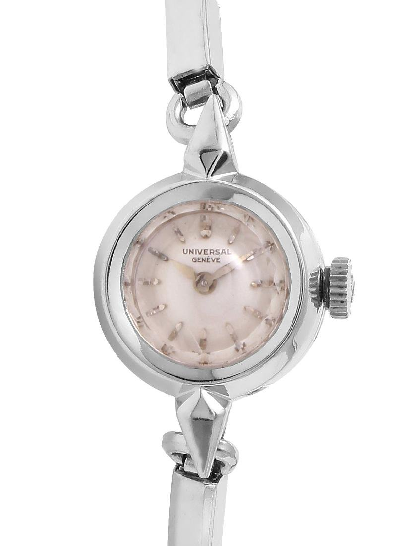 Universal Geneve 14K White Gold Filled Jewelry Watch