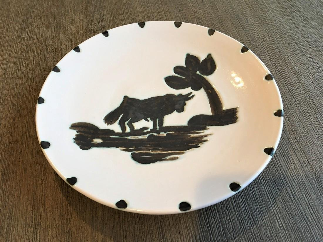 Picasso: Bull Under the Tree Ceramic Plate