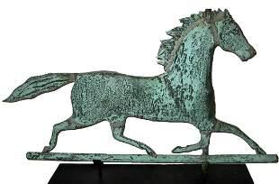 Copper Horse Weathervane, c 1885