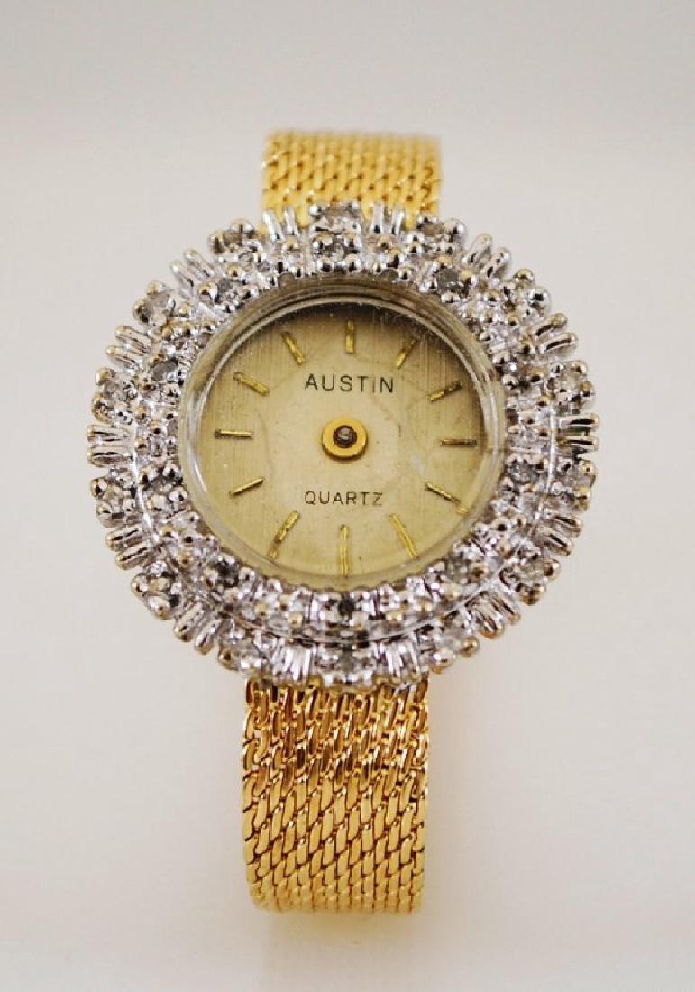 1960's Austin 14K Diamond Watch