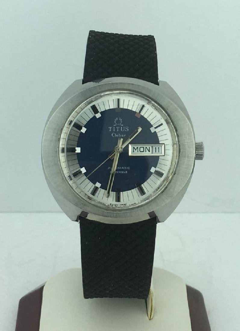 Titus Clebar Automatic Blue Dial Men's Watch