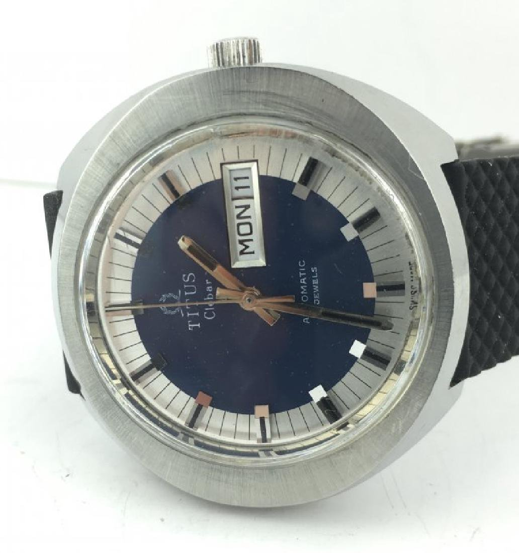 Titus Clebar Automatic Blue Dial Men's Watch - 4