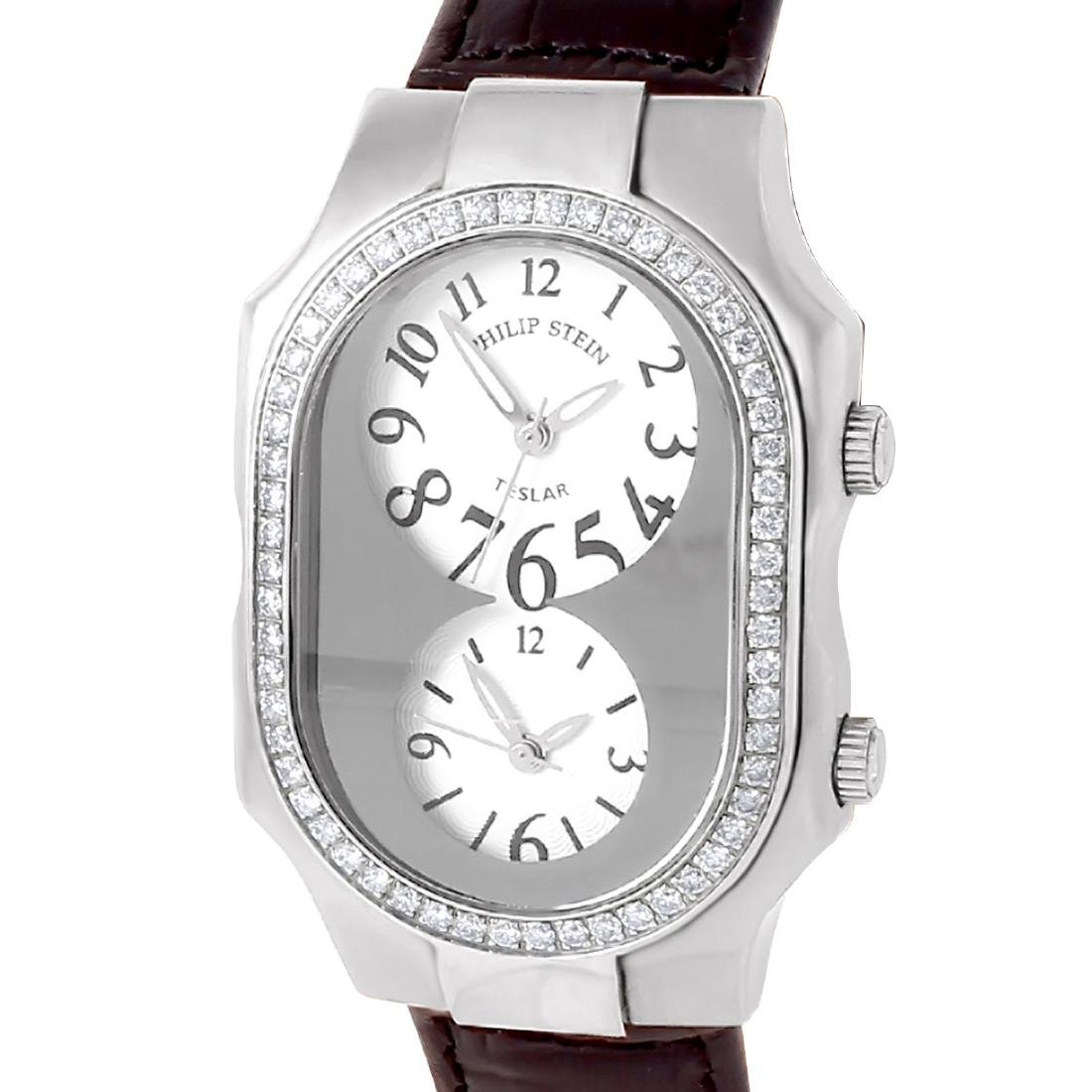 Philip Stein Teslar Stainless Steel Diamond Watch