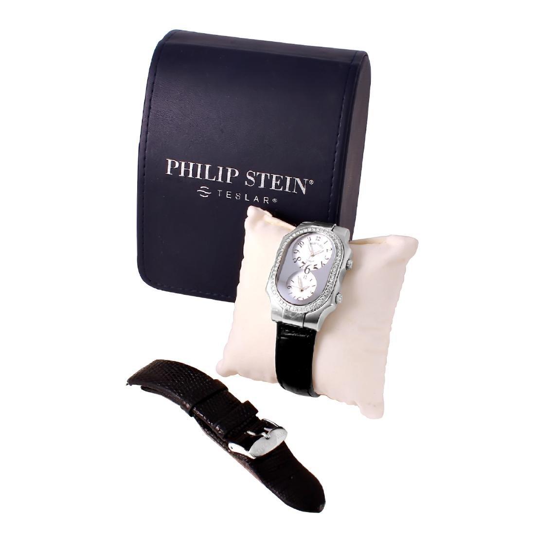 Philip Stein Teslar Stainless Steel Diamond Watch - 3