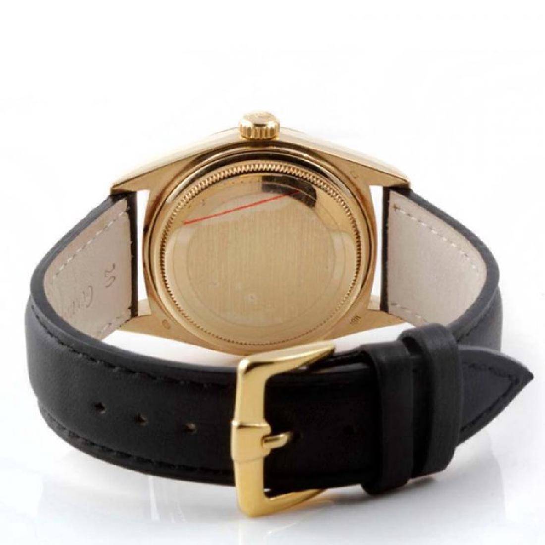 Rolex Men's 18K President Black Dial Watch - 3