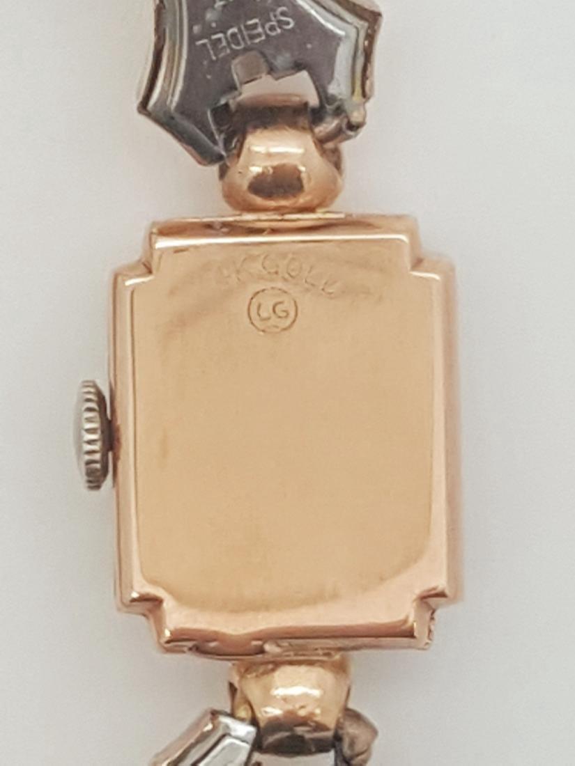 Vintage Benrus 14K Rose Gold Ladies Art Deco Watch - 4