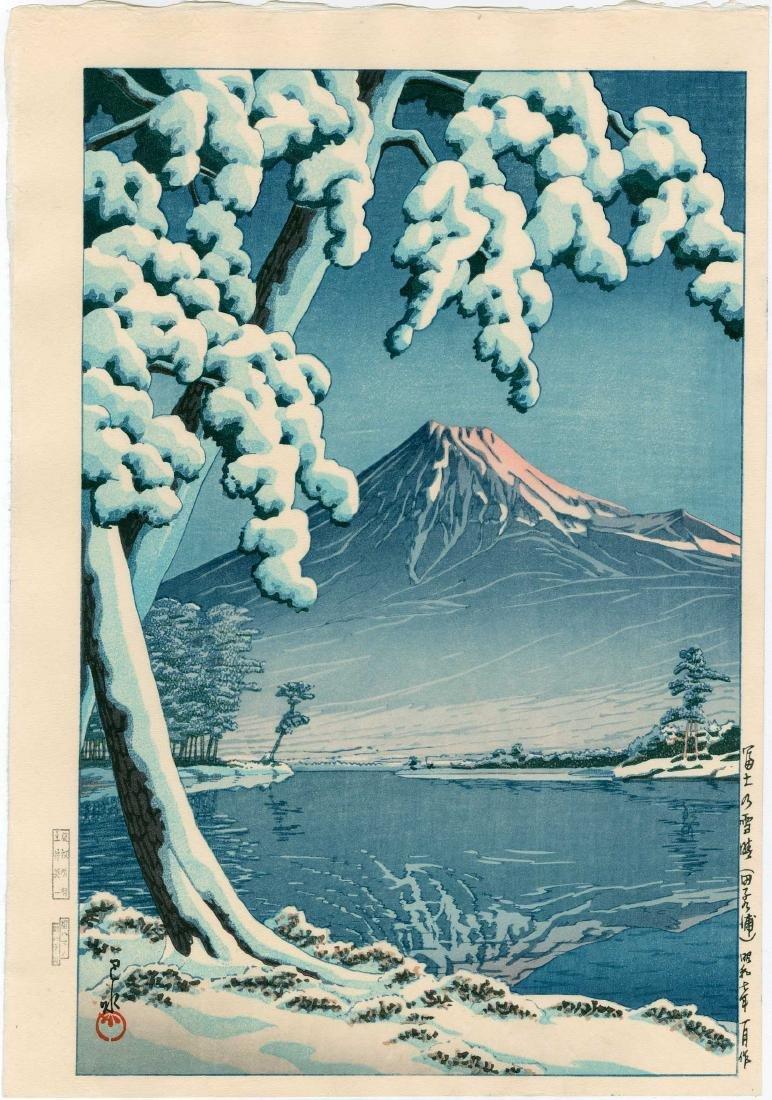 Hasui Kawase: Mt. Fuji After Snow