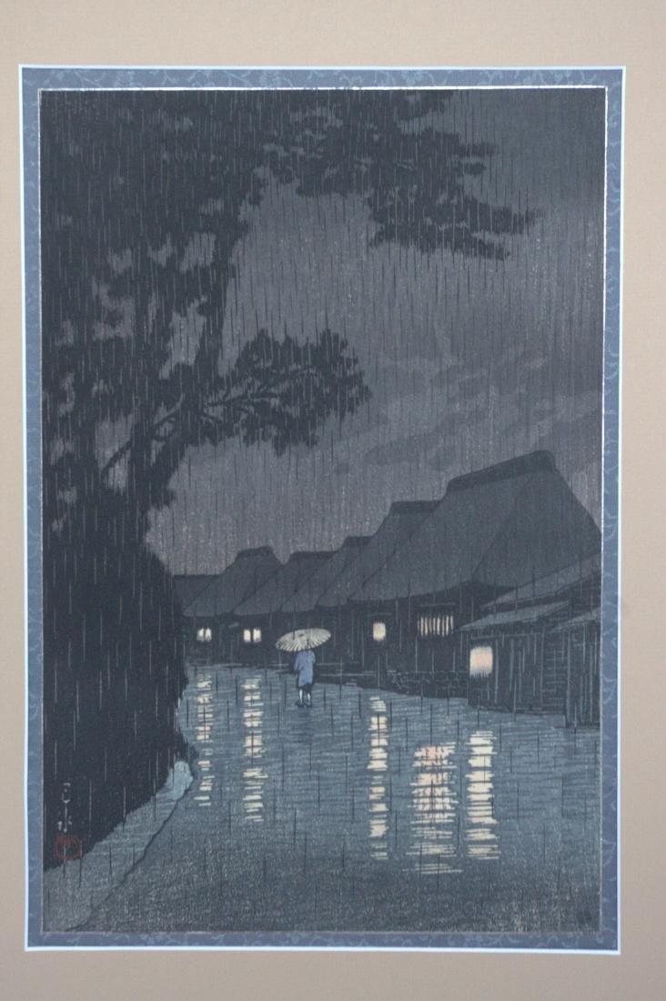 Hasui Kawase: Rainy Night in Maekawa