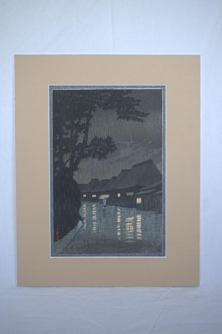 Hasui Kawase: Rainy Night in Maekawa - 2